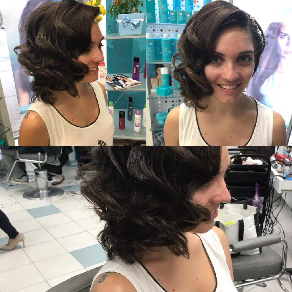 short hair style with side bangs